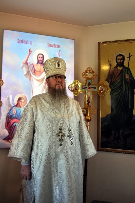 Архиерейская Литургия в Неделю 7-ю по Пасхе в с. Корнеевка