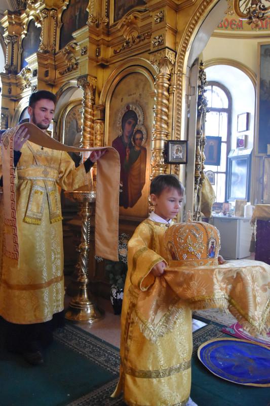 Архиерейская Литургия в день Престольного праздника храма Всех Святых Петропавловска