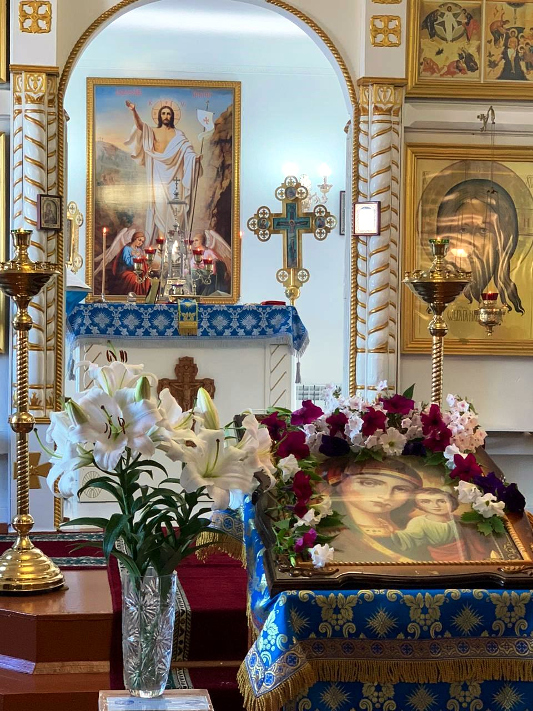 Праздник Казанской иконы Богородицы молитвенно совершили в г. Мамлютке
