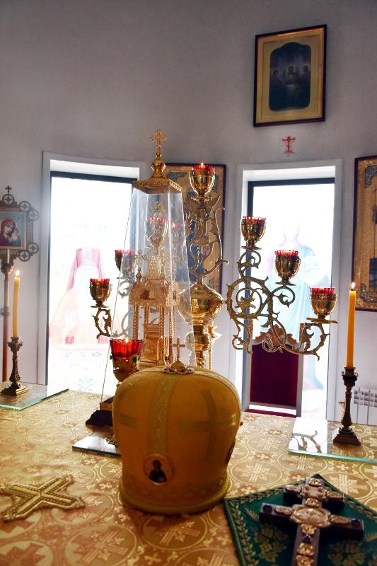 Архиерейская Литургия в Севастиано-Магдалининском храме Петропавловска