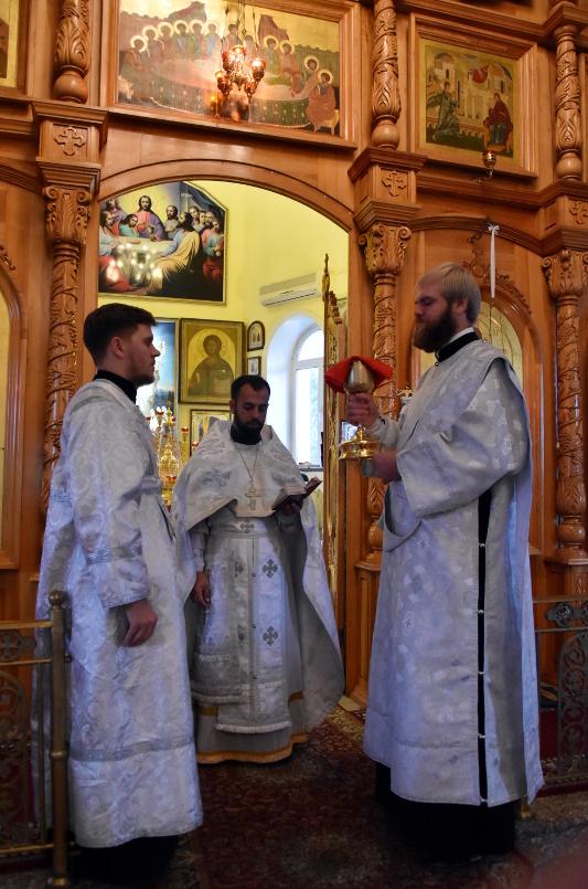 Архиерейское Богослужение в день Отдания праздника Преображения Господня