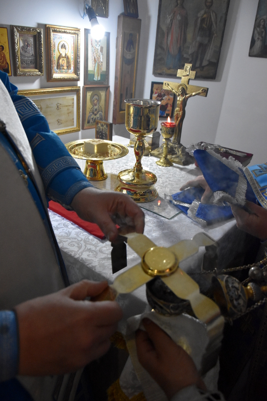 Архиерейская Литургия в храме преподобного Сергия Радонежского г. Сергеевка