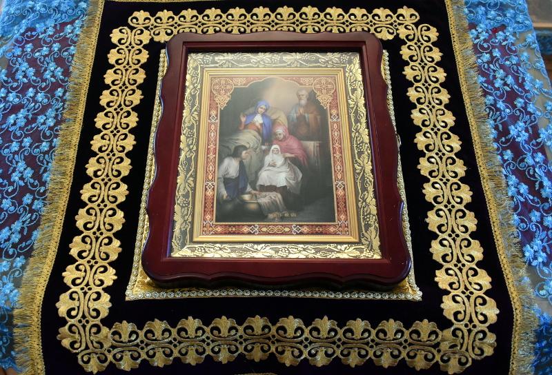 Божественная Литургия в праздник Рождества Пресвятой Богородицы в Введенском храме с. Саумалколь