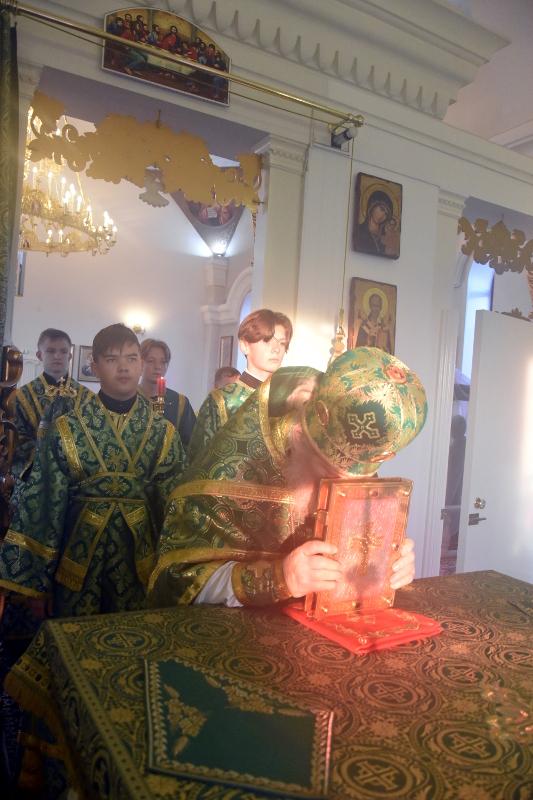 Архиерейская Литургия в день прп. Севастиана Карагандинского
