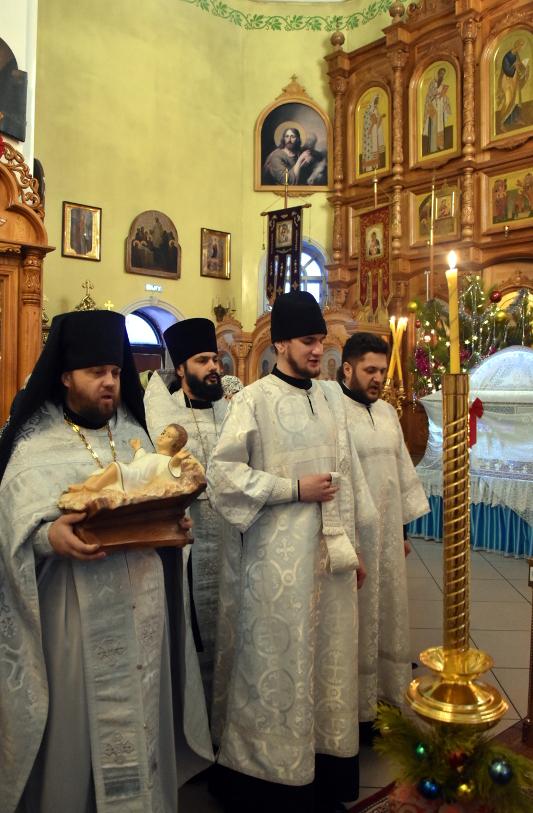 Архиерейская Литургия в Рождественский сочельник