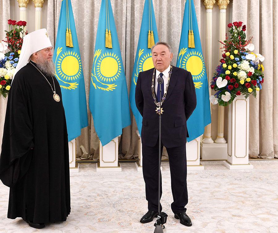 Состоялась встреча Первого Президента Казахстана Н. А. Назарбаева и митрополита Астанайского и Казахстанского Александра