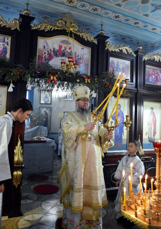 Архиерейская Литургия в субботу по Рождестве Христовом