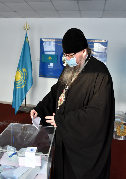 Правящий архиерей принял участие в выборах в Мажилис Парламента и Маслихатов Республики Казахстан