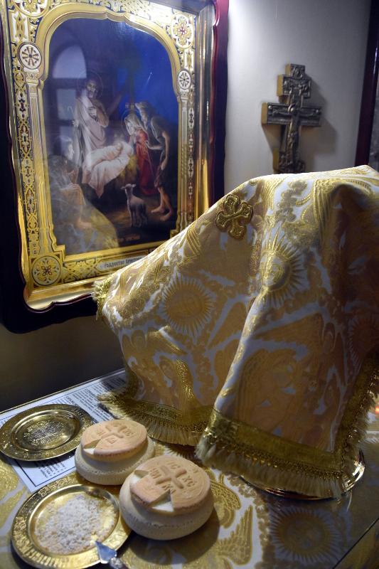Архиерейская Литургия в праздник Трех Святителей