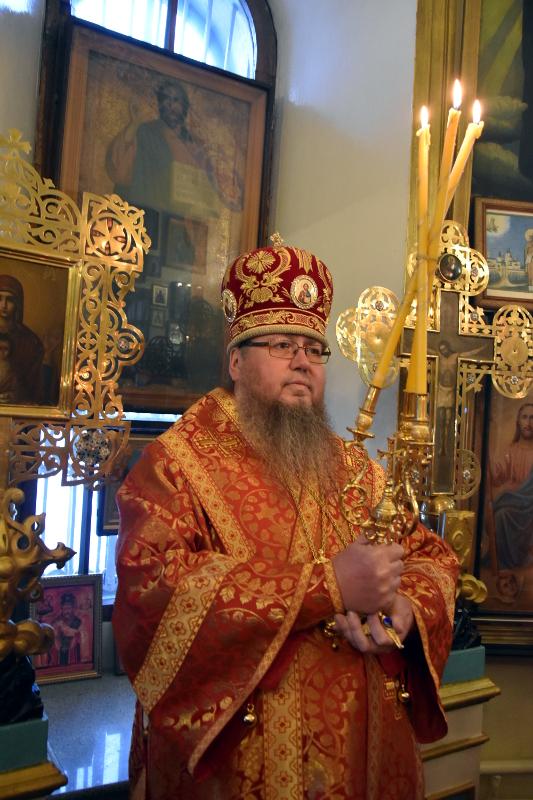 Архиерейская Литургия в праздник Обретения главы Иоанна Предтечи