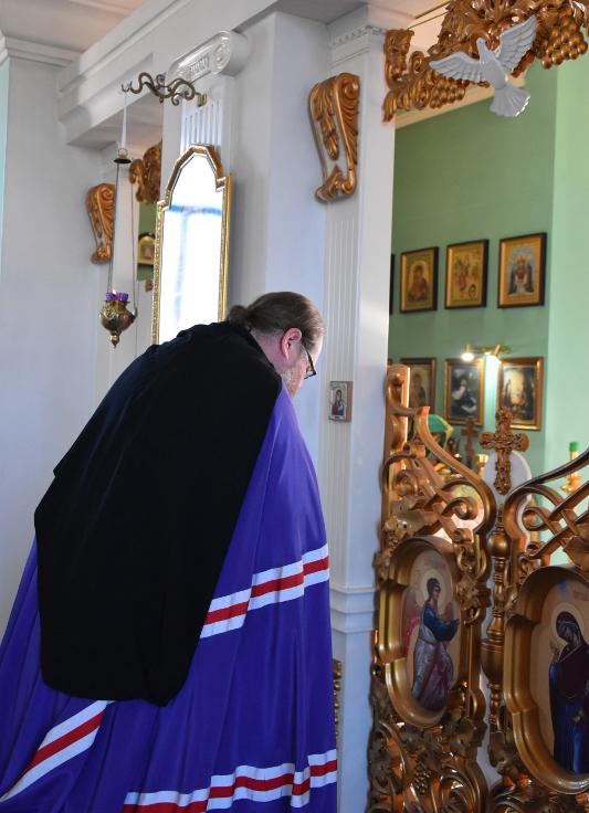 Архиерейская Литургия в день престольного праздника Севастиано-Магдалининского храма микрорайона Береке