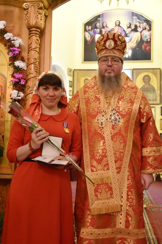 Епископ Владимир вручил награды клирикам, сотрудникам и прихожанам храмов Петропавловска