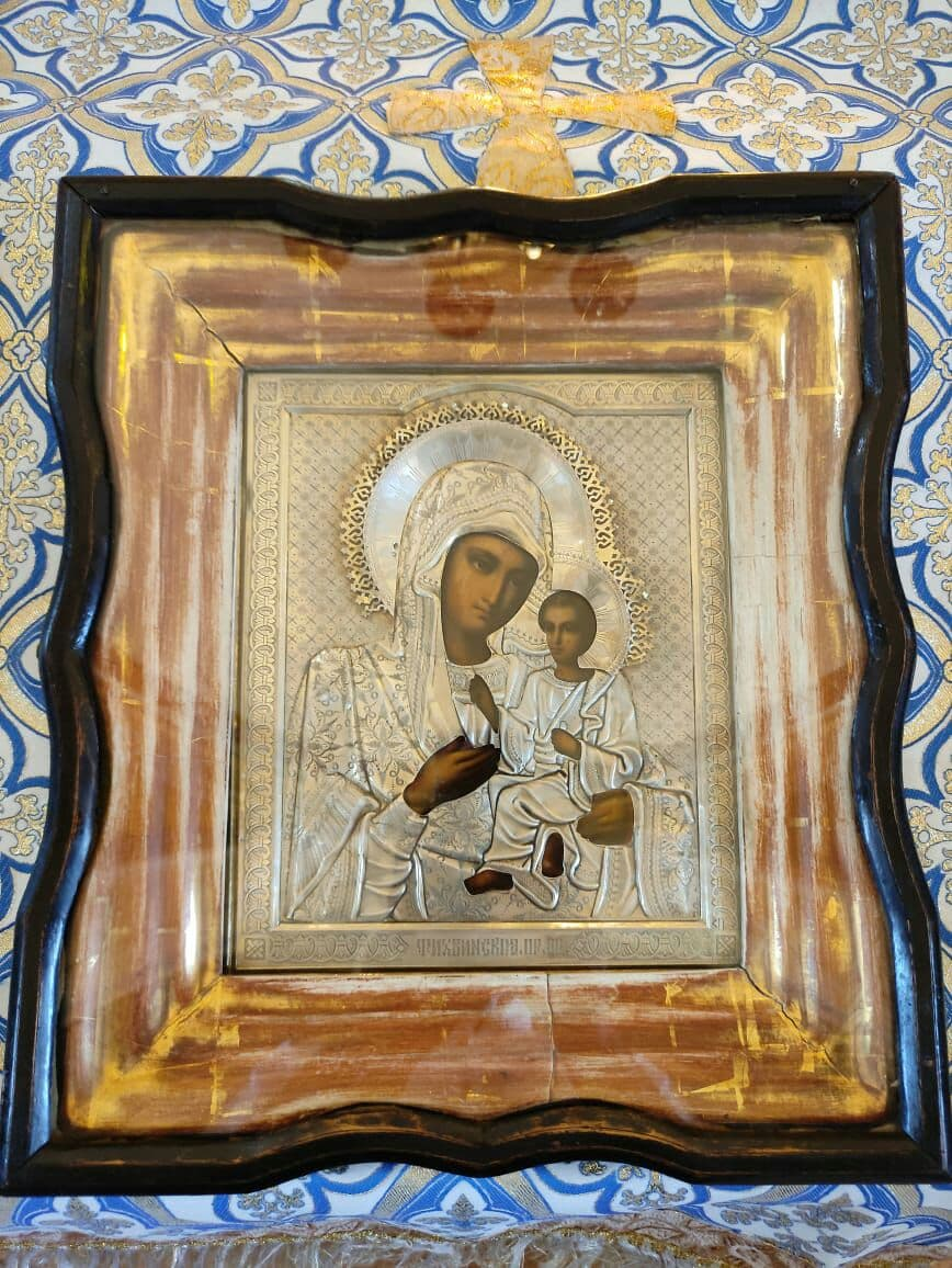 Архиерейская Литургия в праздник Тихвинской иконы Божией Матери в храме Всех Святых Петропавловска