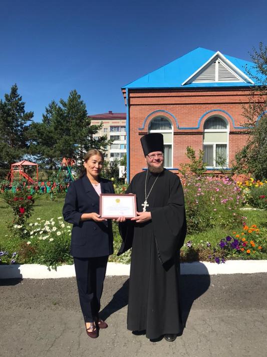 Благодарностью акима области отмечен клирик Петропавловской и Булаевской епархии