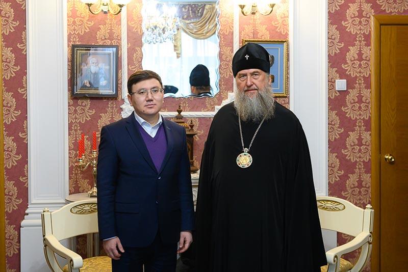 Митрополит Александр встретился с заместителем акима Северо-Казахстанской области