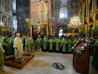В канун праздника Троицы Предстоятель Русской Церкви совершил всенощное бдение в Троице-Сергиевой лавре