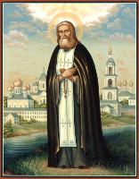 Икона преподобного Серафима Саровского с частицей его святых мощей