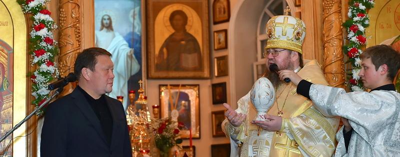 Визит акима области Кумара Иргибаевича Аксакалова в Кафедральный собор города Петропавловска